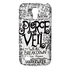 Pierce The Veil Music Band Group Fabric Art Cloth Poster Galaxy S4 Mini by Onesevenart