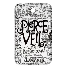 Pierce The Veil Music Band Group Fabric Art Cloth Poster Samsung Galaxy Tab 3 (7 ) P3200 Hardshell Case  by Onesevenart
