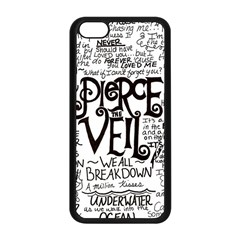 Pierce The Veil Music Band Group Fabric Art Cloth Poster Apple Iphone 5c Seamless Case (black) by Onesevenart
