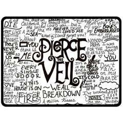 Pierce The Veil Music Band Group Fabric Art Cloth Poster Double Sided Fleece Blanket (large)  by Onesevenart