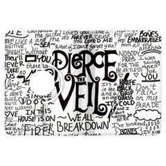 Pierce The Veil Music Band Group Fabric Art Cloth Poster Kindle Fire Hdx Flip 360 Case by Onesevenart