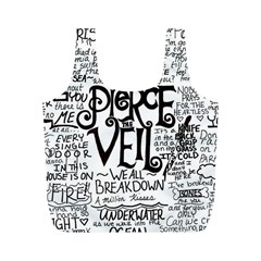 Pierce The Veil Music Band Group Fabric Art Cloth Poster Full Print Recycle Bags (m)  by Onesevenart