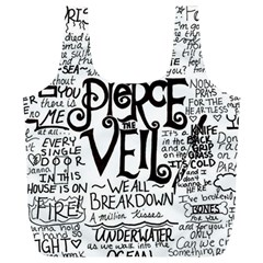 Pierce The Veil Music Band Group Fabric Art Cloth Poster Full Print Recycle Bags (l)  by Onesevenart