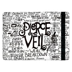 Pierce The Veil Music Band Group Fabric Art Cloth Poster Samsung Galaxy Tab Pro 12 2  Flip Case by Onesevenart