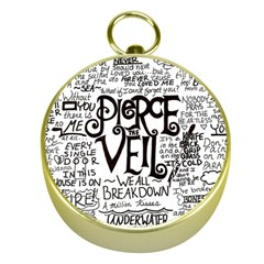 Pierce The Veil Music Band Group Fabric Art Cloth Poster Gold Compasses by Onesevenart