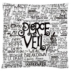 Pierce The Veil Music Band Group Fabric Art Cloth Poster Standard Flano Cushion Case (two Sides) by Onesevenart
