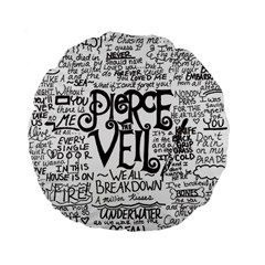 Pierce The Veil Music Band Group Fabric Art Cloth Poster Standard 15  Premium Flano Round Cushions by Onesevenart