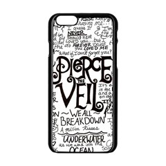 Pierce The Veil Music Band Group Fabric Art Cloth Poster Apple Iphone 6/6s Black Enamel Case by Onesevenart