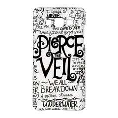 Pierce The Veil Music Band Group Fabric Art Cloth Poster Samsung Galaxy A5 Hardshell Case  by Onesevenart