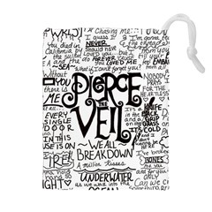 Pierce The Veil Music Band Group Fabric Art Cloth Poster Drawstring Pouches (extra Large) by Onesevenart