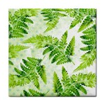 Fern Leaves Tile Coasters Front