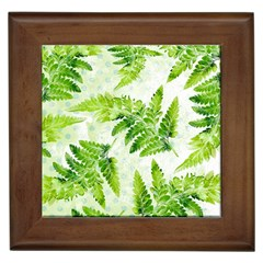 Fern Leaves Framed Tiles by DanaeStudio