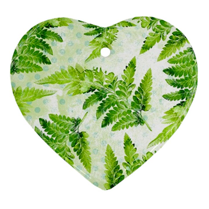 Fern Leaves Ornament (Heart)
