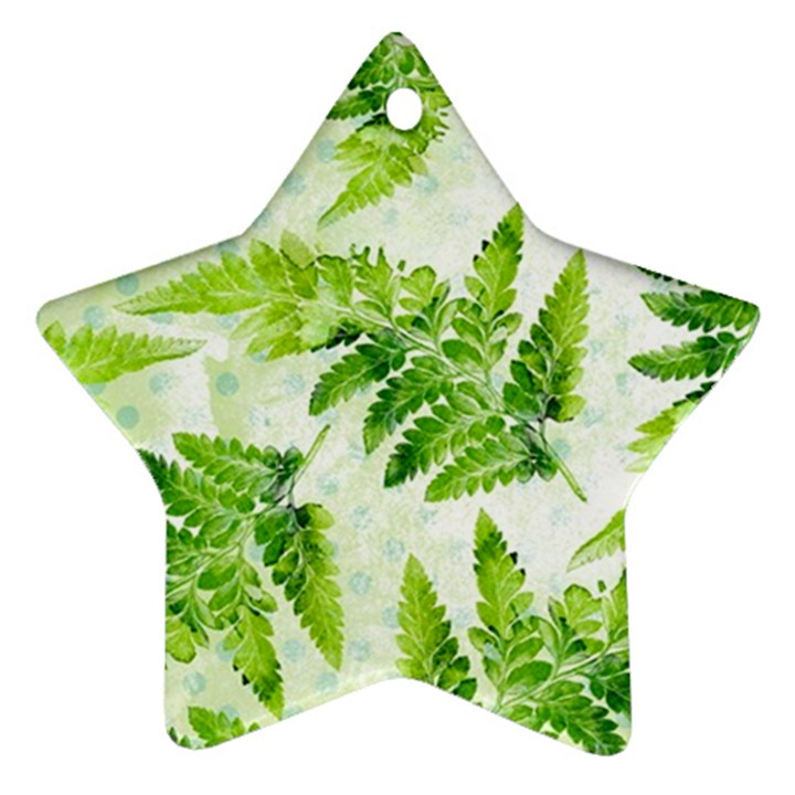Fern Leaves Ornament (Star)