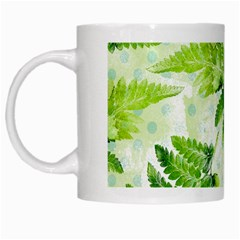 Fern Leaves White Mugs