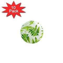 Fern Leaves 1  Mini Magnet (10 Pack)  by DanaeStudio