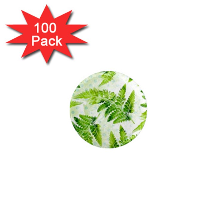 Fern Leaves 1  Mini Magnets (100 pack)
