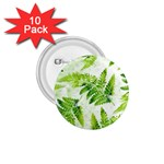 Fern Leaves 1.75  Buttons (10 pack)