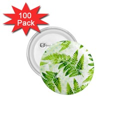 Fern Leaves 1 75  Buttons (100 Pack)