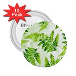 Fern Leaves 2.25  Buttons (10 pack)  Front