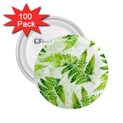 Fern Leaves 2 25  Buttons (100 Pack)