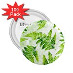 Fern Leaves 2.25  Buttons (100 pack)  Front