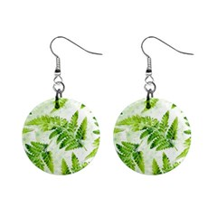 Fern Leaves Mini Button Earrings