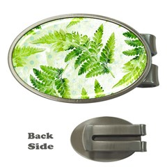 Fern Leaves Money Clips (Oval)