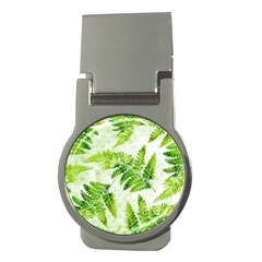 Fern Leaves Money Clips (round)  by DanaeStudio