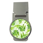 Fern Leaves Money Clips (Round)  Front