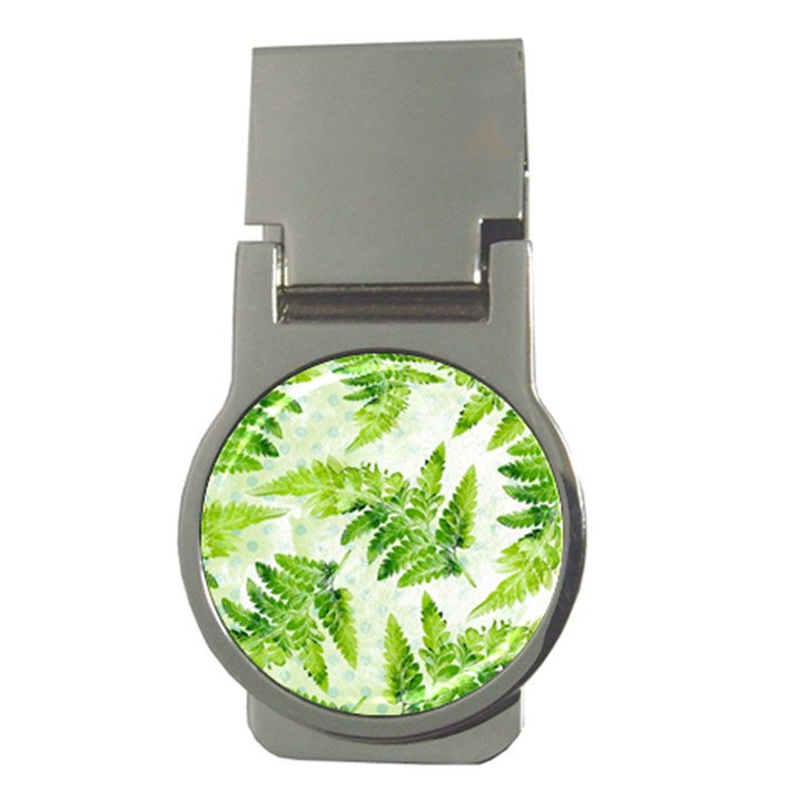 Fern Leaves Money Clips (Round)