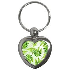 Fern Leaves Key Chains (heart)  by DanaeStudio