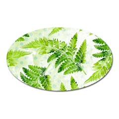 Fern Leaves Oval Magnet