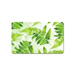 Fern Leaves Magnet (Name Card) Front