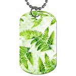 Fern Leaves Dog Tag (One Side) Front