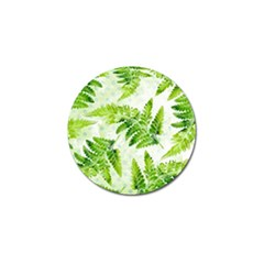 Fern Leaves Golf Ball Marker by DanaeStudio