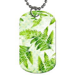 Fern Leaves Dog Tag (two Sides) by DanaeStudio