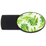 Fern Leaves USB Flash Drive Oval (2 GB)  Front