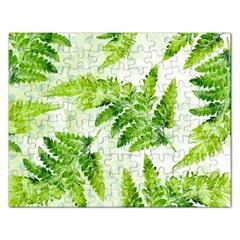 Fern Leaves Rectangular Jigsaw Puzzl by DanaeStudio