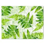 Fern Leaves Rectangular Jigsaw Puzzl Front