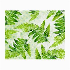 Fern Leaves Small Glasses Cloth by DanaeStudio