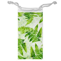 Fern Leaves Jewelry Bags by DanaeStudio