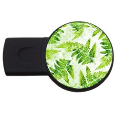 Fern Leaves USB Flash Drive Round (4 GB)