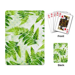 Fern Leaves Playing Card