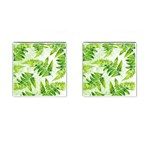 Fern Leaves Cufflinks (Square) Front