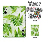 Fern Leaves Playing Cards 54 Designs  Front - SpadeA