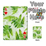 Fern Leaves Playing Cards 54 Designs  Front - Heart6