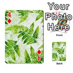 Fern Leaves Playing Cards 54 Designs  Front - Diamond4