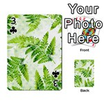 Fern Leaves Playing Cards 54 Designs  Front - Club3