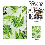 Fern Leaves Playing Cards 54 Designs  Front - Club10